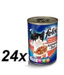 Felix konzervy s hovädzím a kuraťom v želé 24 x 400g