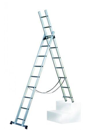 Facal dvodelna lestev SL200-2, 2x7