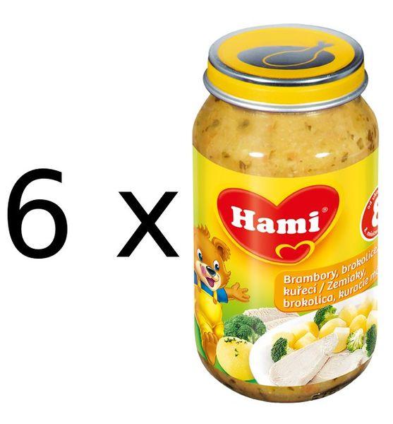Hami Brambory, brokolice, kuřecí - 6 x 200g