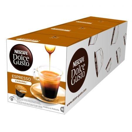 NESCAFÉ kavne kapsule Dolce Gusto Espresso Caramel, trojno pakiranje