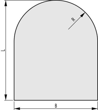 HAAS+SOHN Sklo pod kachle 1000x1000, forma C