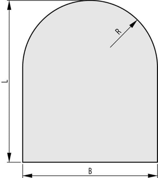 HAAS+SOHN Sklo pod kamna 1000x1000, forma C