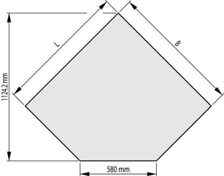 HAAS+SOHN Sklo pod kachle 1000x1000, forma B