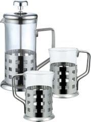 RENBERG Zestaw: dzbanek do herbaty + 2 szklanki