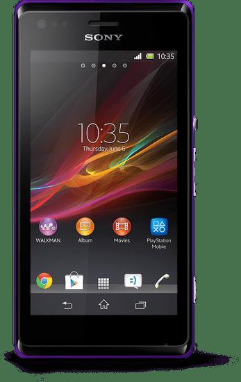 Sony Xperia M, C1905, purpurová