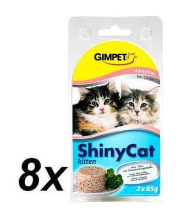 Gimpet SHINY CAT juniro kuře 8 x ( 2 x 70g )