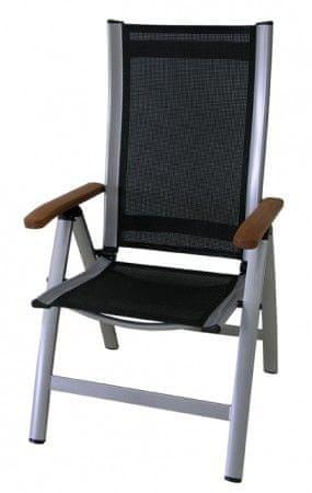 Rojaplast stol Comfort, črno-srebrn