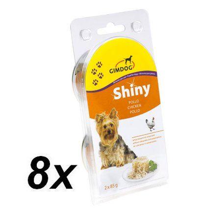 Gimpet SHINY DOG kuře 8 x ( 2 x 85g )