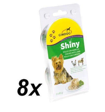 Gimpet SHINY DOG kuře + jehně 8 x ( 2 x 85g )