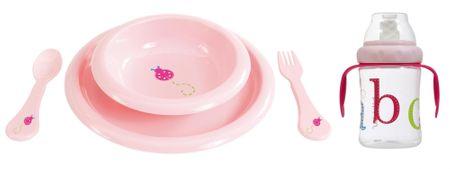Bebe-jou Étkészlet pohárral, Rózsaszín
