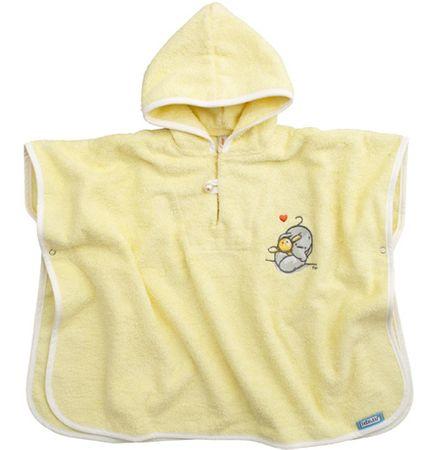 Bebe-jou pončo s kapuco, rumena
