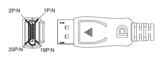 PremiumCord DisplayPort přípojný kabel M/M, 5m