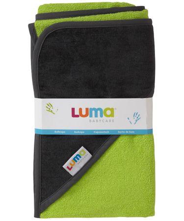 Luma Froté osuška s kapucňou - Lime green