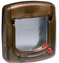 Staywell 320 Műanyag macskaajtó, Barna