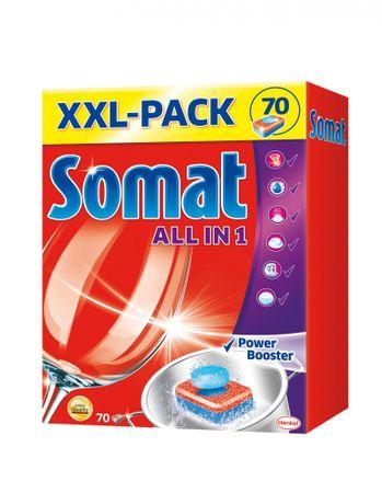 Somat All in one tablete za pomivalni stroj, 70 kosov