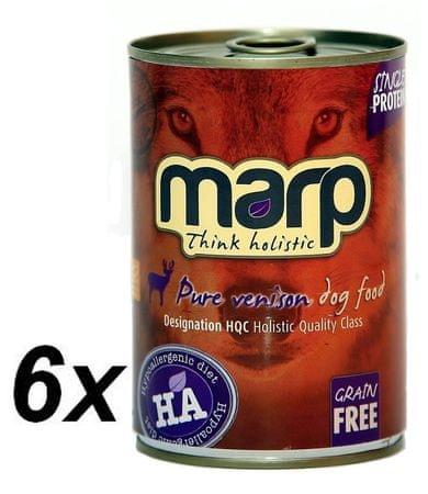 Marp holistična hrana za pse, divjačina, 6 x 400 g
