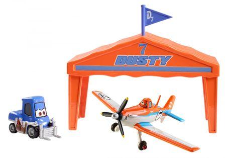 Mattel Avioni set avion Dusty s hangarjem