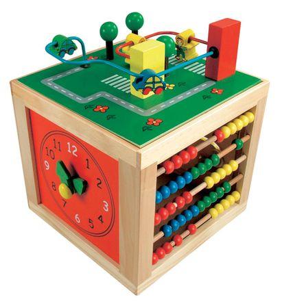 Bino motorična večnamenska kocka Cube - odprta embalaža