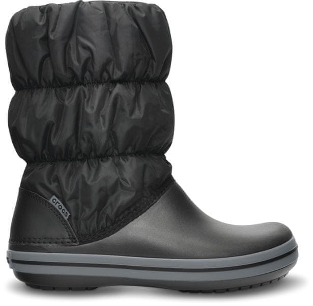 Crocs Winter Puff Boot Black/Charcoal W6