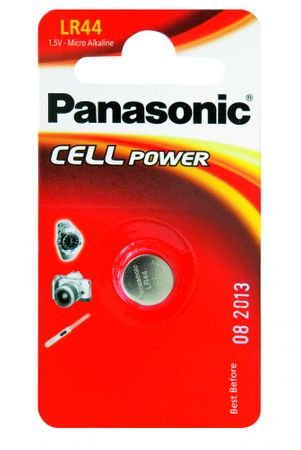 Panasonic baterija Alkaline LR44L, 1 kos