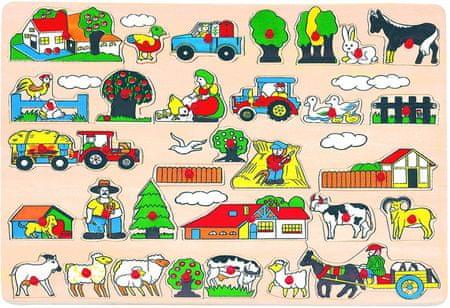 BINO Drewniane puzzle, farma