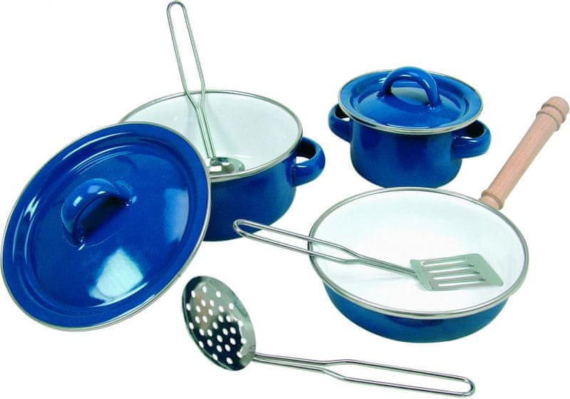 Bino Sada smaltovaného nádobí, 8 ks