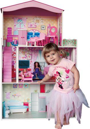 Woody Kolorowy dom dla lalek z windą