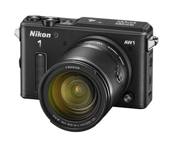 Nikon digitalni fotoaparat AW1 + 11-27,5 mm + 10 mm, črn