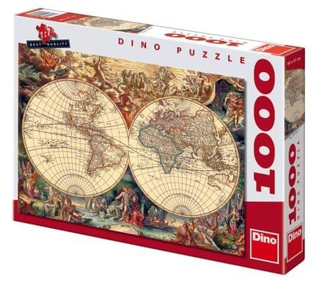 DINO Történelmi Térkép Puzzle, 1000 db
