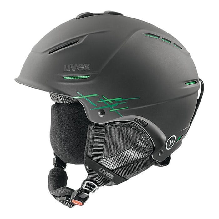 Uvex lyžařská helma P1us Pro, black-green mat (S566156270*)