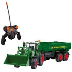 DICKIE RC Traktor s lyžicou a vozíkom