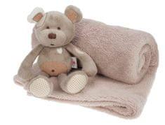 Candide Plyšový medvídek s dekou (95x146cm) Méďa new