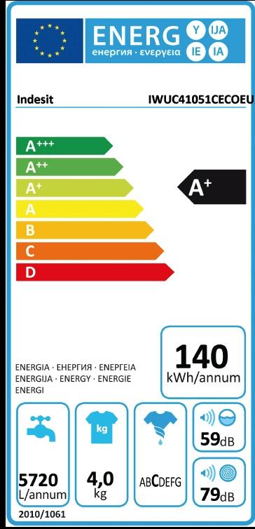 Indesit pračka IWUC 41051 C ECO EU + 5 let záruka na motor