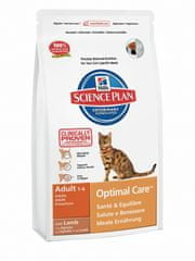 Hill's sucha karma dla kota SP Adult Optimal Care Lamb - 2 kg