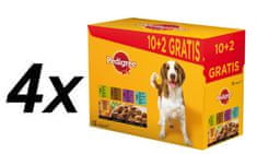 Pedigree Adult Multipack - 4 x (12 x 100g)