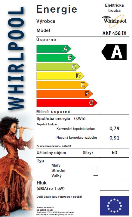 Whirlpool vestavná trouba AKP 458 IX + 5 let záruka na motor ventilátoru