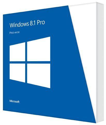 Microsoft Windows Pro 8.1 32bit./64bit. Cz DVD