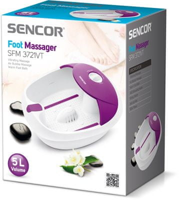 SENCOR masažna kad SFM 3721VT, vijolična - Odprta embalaža1