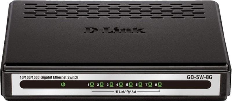 D-Link 8-Port Gigabit Ethernet Switch GO-SW-8G