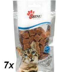 Akinu Lososové kostičky pre mačky 7 x 50g