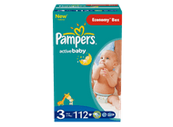 Pampers Active Baby 3 Midi - 112 szt.