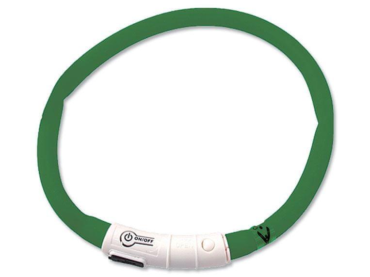 Dog Fantasy obojek světelný zelený vel. 70