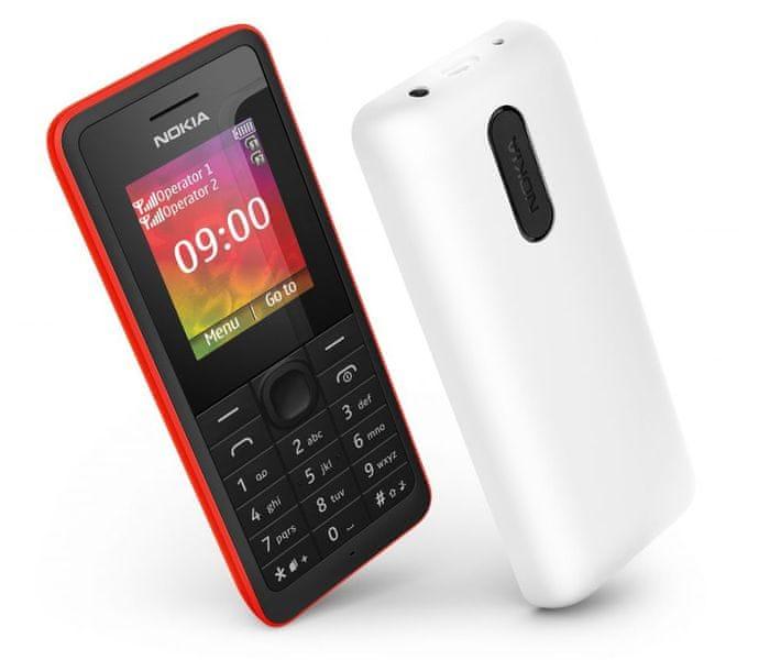 Nokia 108 Dual SIM, bílá - II. jakost
