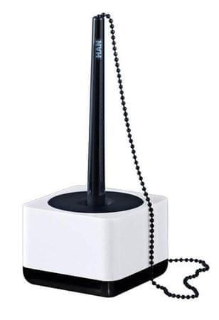 Han Kemični svinčnik na stojalu iLine, belo črn