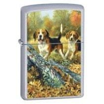 Zippo Vžigalnik Classic Linda Picken Beagles Satin Chrome