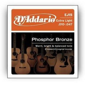 Daddario Strune za akustično kitaro D'addario EJ15, 10-47