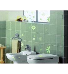 Crearreda dekorativna nalepka, zelene rože (31404)