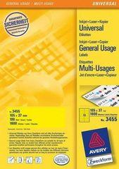 Avery Zweckform Etikete 3455 105X37, rumene, zavitek 100 listov