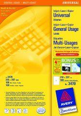 Avery Zweckform Etikete 3470 210X297, crvene, 100 listova