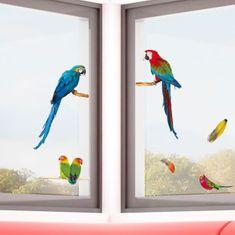 Crearreda dekorativna nalepka za okno, papagaji